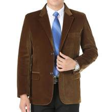 Negocios mens casual traje de mediana edad chaqueta de pana hombres blazer  masculino slim fit casaco 1d8067ff328