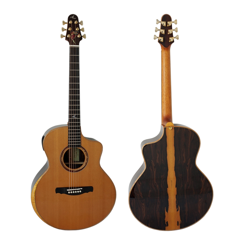 yulong guo a echoes brand all solid double cedar top acoustic guitar model sg03dcz in guitar. Black Bedroom Furniture Sets. Home Design Ideas