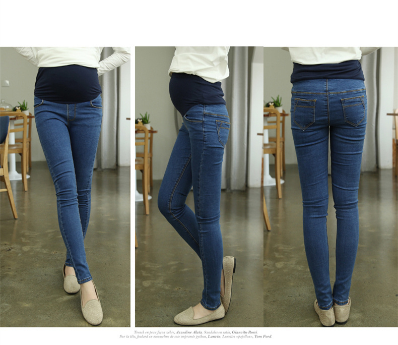 hot selling maternity jeans pregnant skinny belly pants long ...