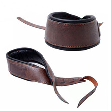 MoonEmbassy High Quality PU Leather Guitar Strap Adjustable Soft Bass Straps Accessories
