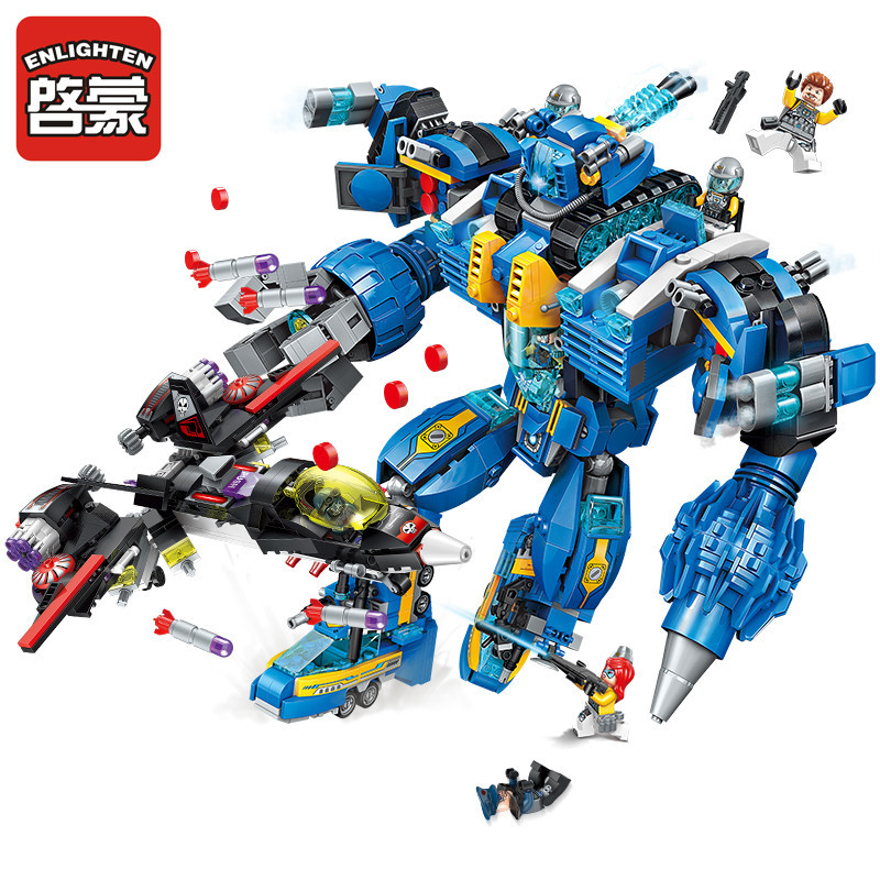 Enlighten 1351pcs LegoING Building Blocks Sets High Tech Era Garma Mecha Man War Bricks Brinquedos Educational Toys for Children