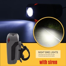 Bicycle LED Light Speaker Bicycle Light Micro USB Charging Bike Front Head Light Lamp Cycling Flashlight With High DB Horn drop