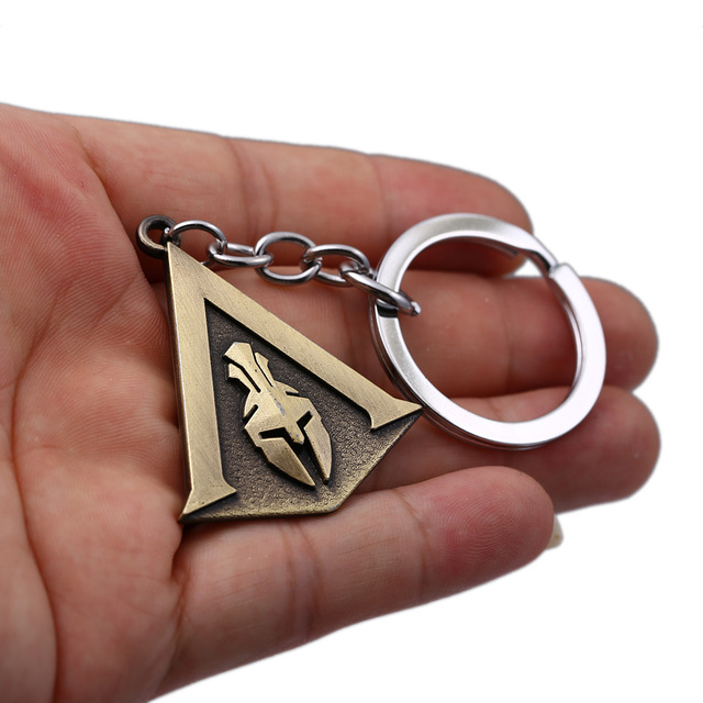 Assassins Creed Keychain Odyssey New Game assassin's Key Chain Key Holder Porte Clef Llaveros Hombre 4