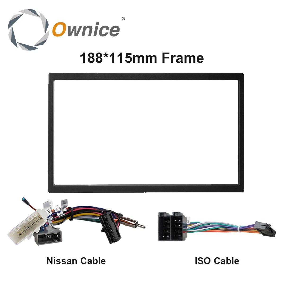 Ownice Auto DVD Audio 115X188mm Rahmen, Kabel für nissan, universal Kabel für 2 Din Universal Auto Radio.