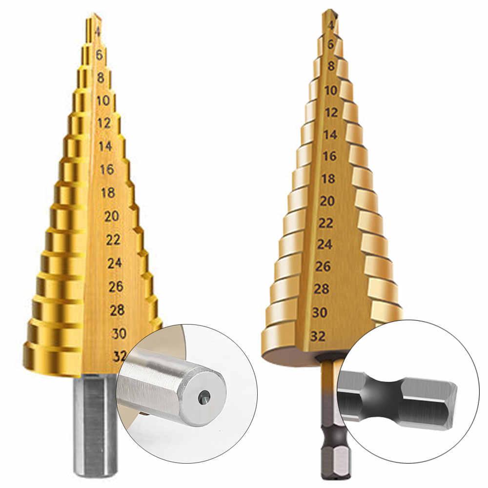 Foret pas à pas en acier titane Vastar HSS 3-12mm 4-12mm 4-20mm outils de coupe de cône pas à pas ensemble de forets en métal pour le travail du bois
