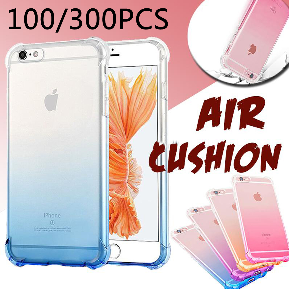 100pcs Shockproof Protection Gradient Color Soft TPU Silicone Transparent anti knock case For iphone X XS XR XS Max 6s 7 8 Plus100pcs Shockproof Protection Gradient Color Soft TPU Silicone Transparent anti knock case For iphone X XS XR XS Max 6s 7 8 Plus