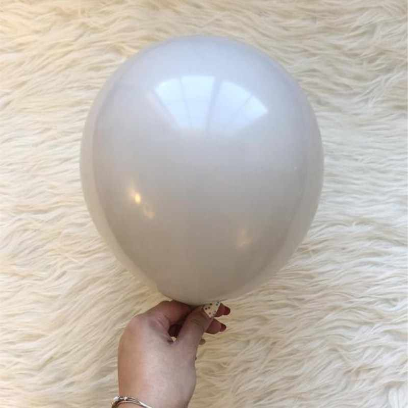 Kuchang 10 inch gray latex balloon Round Shape ball Pearl Balloons Wedding Birthday party decorations children toy photo decor