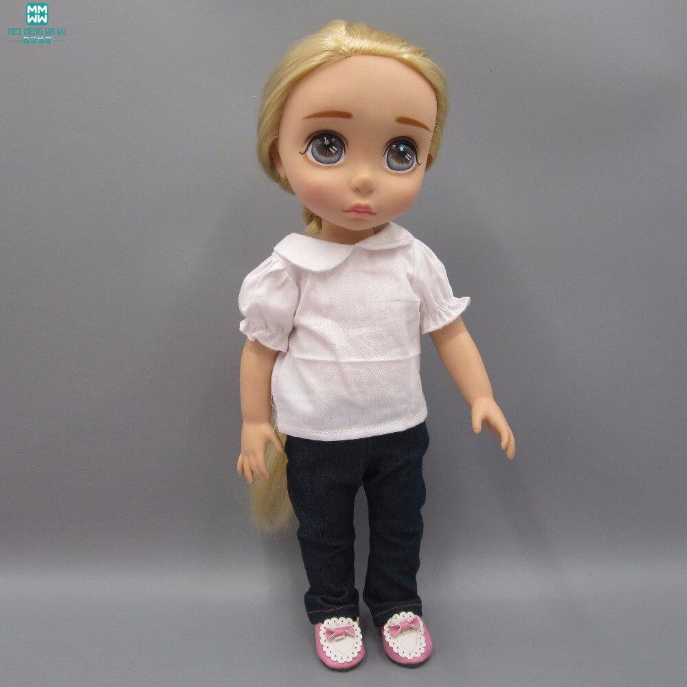 Doll kläder till 40cm Anna Elsa Sharon docka Tillbehör Vit skjorta - Dockor och tillbehör - Foto 3