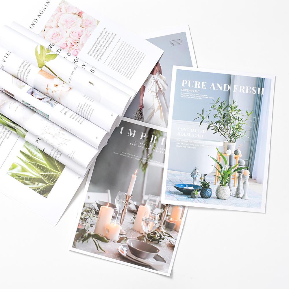 Vogue English Magazine Painting Album DIY Photography Adornment INS Studio Photo Shooting Background Prop Fotografia