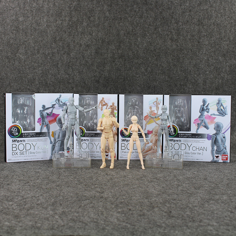 4 Style SHFiguarts Archetype He Archetype She Ferrite BODY KUN / BODY CHAN Ver. PVC Action Figure Collectible Model Toy shfiguarts pvc body kun body chan body chan body kun grey color ver black action figure collectible model toy