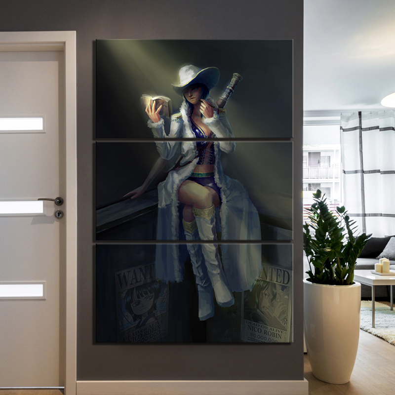 ONE PIECE Nico Robin Drawing Art Poster HD Pictures Modern Oil Painting Animation Wall Art for Home Decor 1