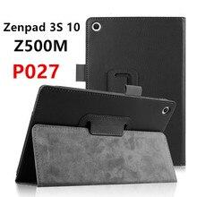 """Zenpad 3 S 10 Del Grano Del Lichí de LA PU Funda de Cuero Flip Cubierta para Asus ZenPad 3 S 10 9.7 """"Z500M Z500 P027 tablet funda Protectora shell"""