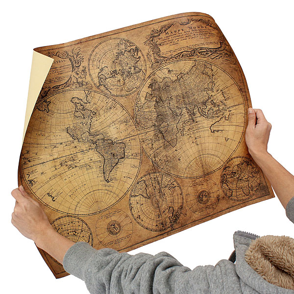 Large size vintage style kraft paper retro 1746 world map poster large size vintage style kraft paper retro 1746 world map poster 62x52cm matte brown paper map gumiabroncs Images