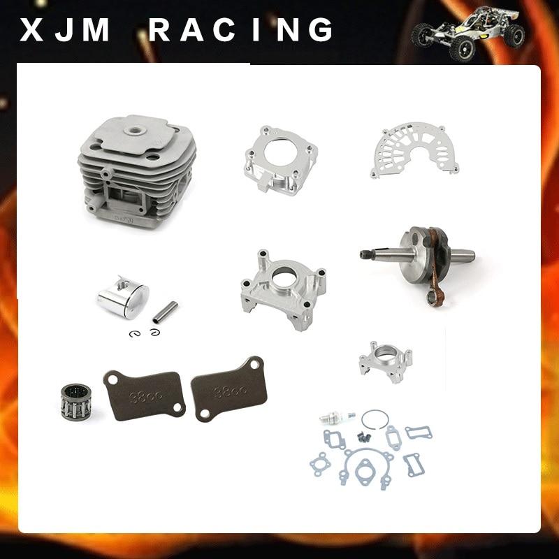 38CC Cylinder kit and CNC Crankcase For 1/5 hpi BAJA 5B 5T 5SC FG Losi 5ive T cnc 2 cylinder kit baja twin cylinder kit for 1 5 scale hpi baja 5b 5t 5sc