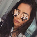 Fashion Women Vintage Round Sunglasses Ladies Brand Designer Mirror Sun Glasses Retro Female Cool Sunglasses lunettes 2016 New
