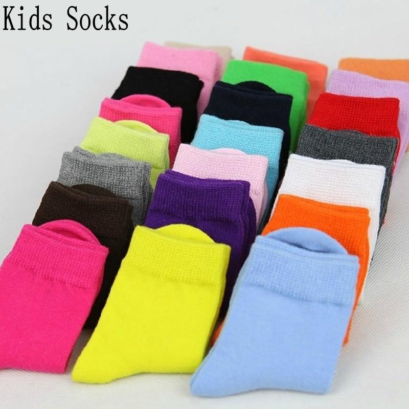10 pares/lote crianças meias outono inverno doces cores de alta qualidade algodão meninos meninas meias 1-9 ano chilren meias