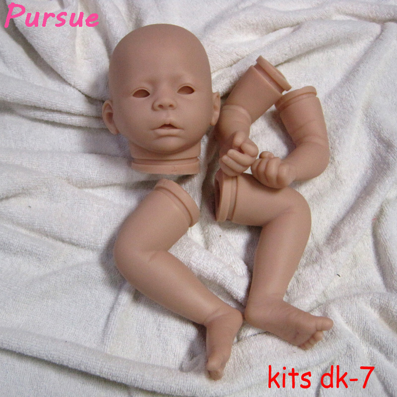 Pursue 21 inch Safe Soft Vinyl Reborn Baby Toddler Doll Kits Silicone for 20-22 inches Reborn Doll(Head, 3/4 limbs) (Open Eyes) good price reborn baby doll kits for 17 baby doll made by soft vinyl real touch 3 4 limbs unpainted blank doll diy reborn doll