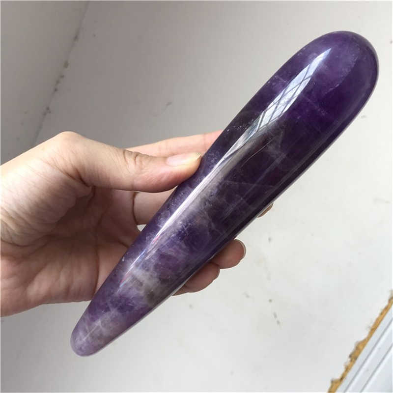 DHX SW large length and width natural pink quartz crystal gemstone massage stick wand yoni wand goddess wand healing for women