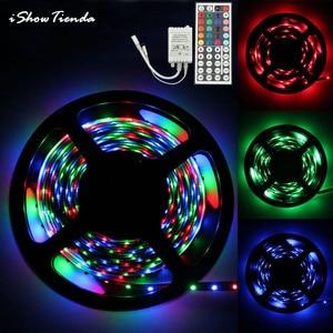 5M RGB 3528 12V 300 LED SMD Flexible Light Strip Lamp+44 key IR Remote Controller Flexible LED Tape Ribbon Sheds & Storage