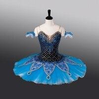 Fltoture Blue Bird Stage Costumes Girls Ballet Competition Tutu ATS9013 Child Custom Made Tutu 10 Layers Ballet Skirt
