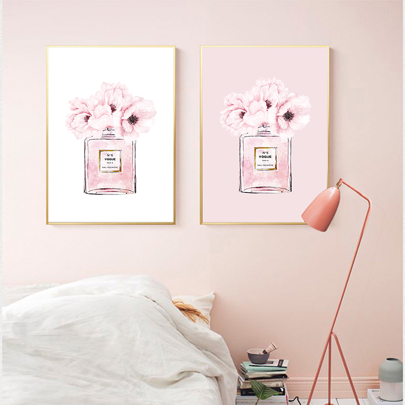coco perfume print living room decor