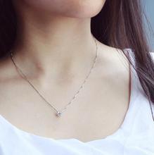 925 de plata esterlina collares y colgantes para las mujeres de dama de moda Cubic Zirconia accesorios de la joyería
