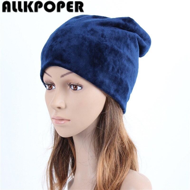 ALLKPOPER Women's Hat Skullies Beanies Polyester Knitted Hats Beanie Hat Spring Casual Velvet Women Beanies Hats skullies