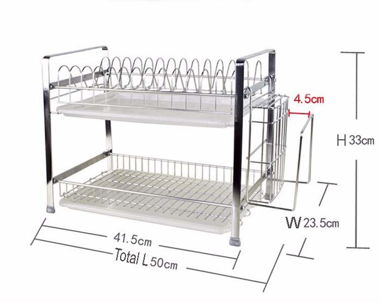 Stainless steel double layer combination type plate holder bowl rack kitchen dish rack-in Storage Holders \u0026 Racks from Home \u0026 Garden on Aliexpress.com ...  sc 1 st  AliExpress.com & Stainless steel double layer combination type plate holder bowl rack ...