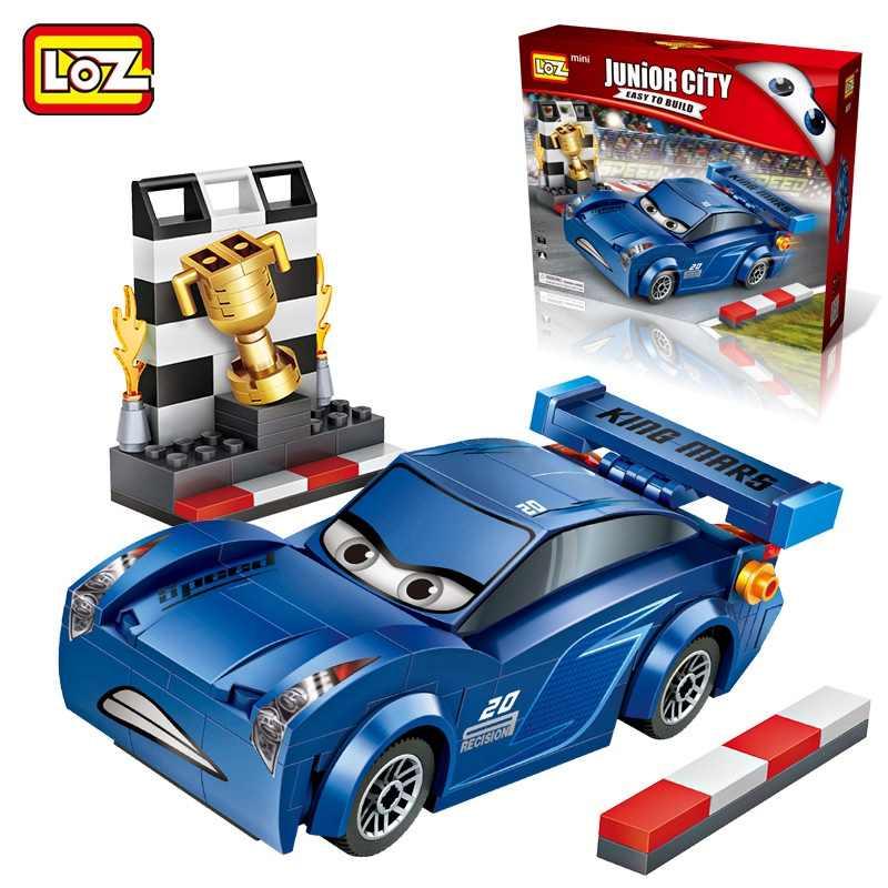 LOZ venta única Mini Jackson Storm Blue Cars bloques de construcción DIY dibujos animados muñecas diamante ladrillos niños juguete para regalo de niños 233 piezas