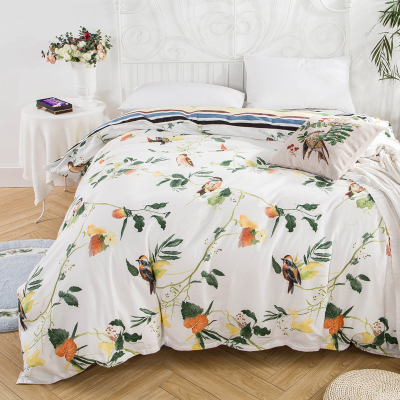 100% cotton duvet cover 1pc 2018 Autumn style quilts cover no stuffing modern flower bed twin full queen king size bedding home100% cotton duvet cover 1pc 2018 Autumn style quilts cover no stuffing modern flower bed twin full queen king size bedding home