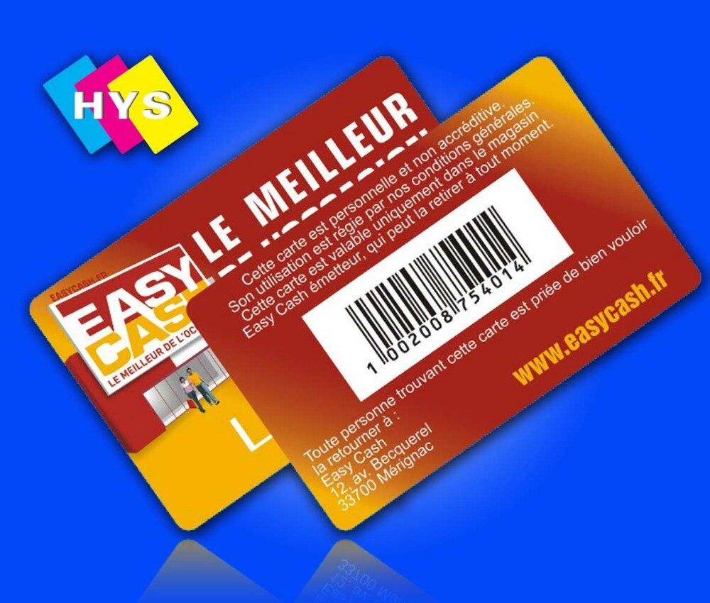 Tarjetas de plástico y tarjetas de visita e impresión de tarjetas inteligentes