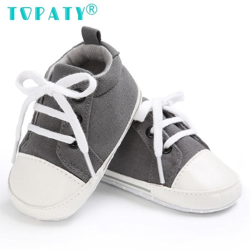 TOPATY 0-18M Baby Boys Girls zasznurować buty Canvas Sapatos De - Buty dziecięce - Zdjęcie 3