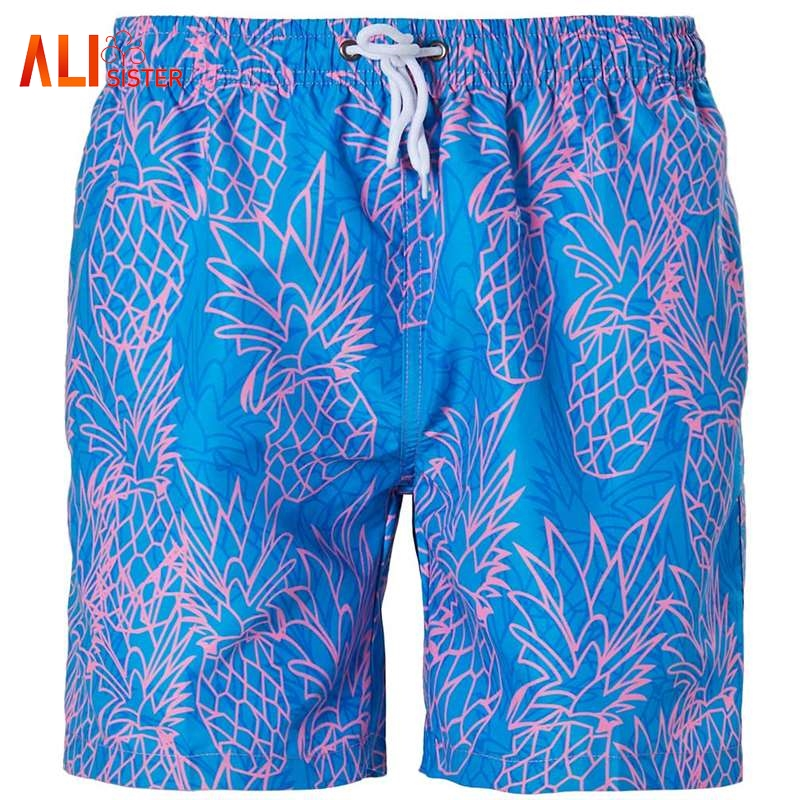 3 Style Quick Drying   Board     Shorts   Pineapple Star Stripe Print Homme Bandage   Shorts   Beach Summer Casual Hot   Board     Shorts