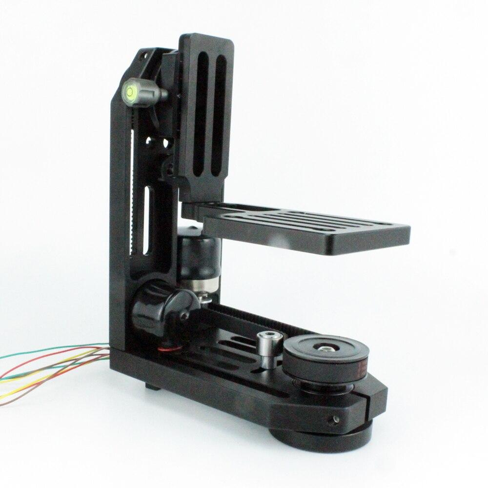 Cabeça motorizada pan tilt com motores de passo sem controlador 2 para animação stop motion