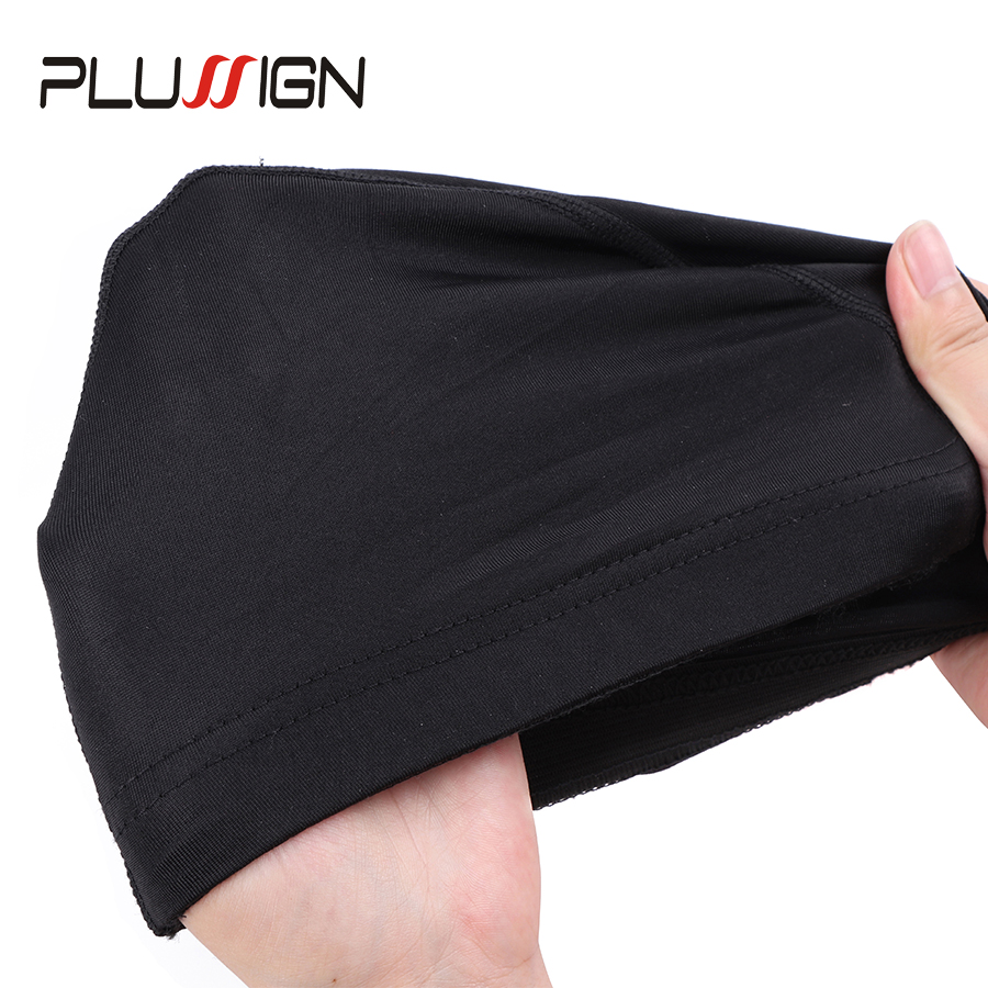 Plussign Glueless Elastic Mesh Dome Spandex Cap Hair Weaving Nets Wig Liner Cheap Wig Making Tools 6 Pcs/Lot Bulk Sale