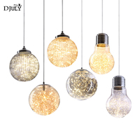 nordic modern light post pendant lights for living room dining room store home deco stained glass hanging lamp bar led fixtures