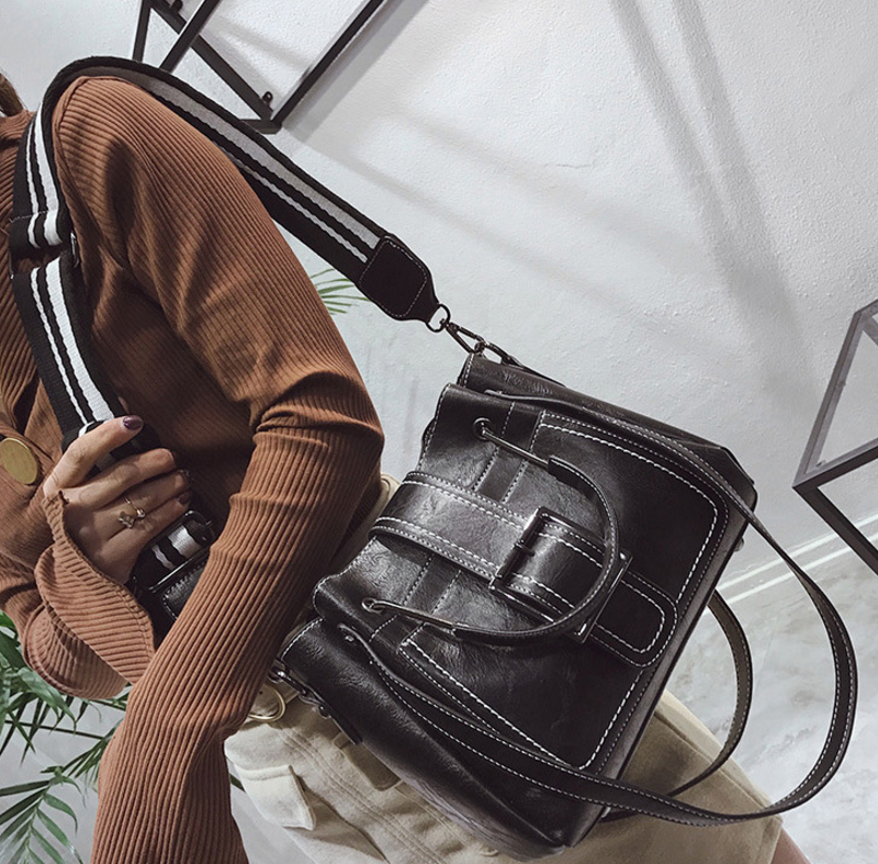 New European and American style vintage PU women handbag shoulder bag messenger bag 87