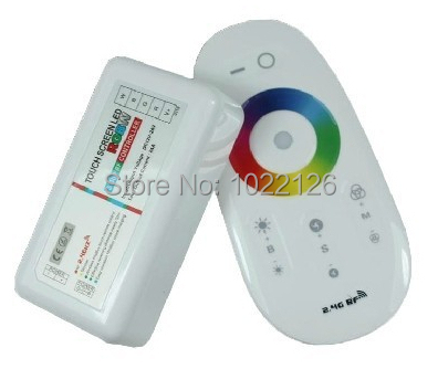 Free Shipping 2.4G RF RGBW LED controller programmable with touch panel for LED strip light
