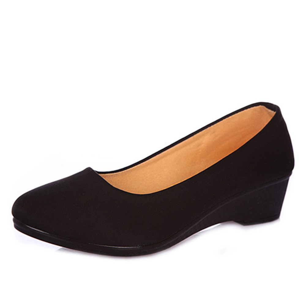Women Ballet Shoes Women Wedges Shoes for Work Cloth Sweet Loafers Slip On Women's Pregnant Wedges Shoes Oversize Boat Shoe  women shoes women ballet flats shoes for work flats sweet loafers slip on women s pregnant flat shoes oversize boat shoes d35m25