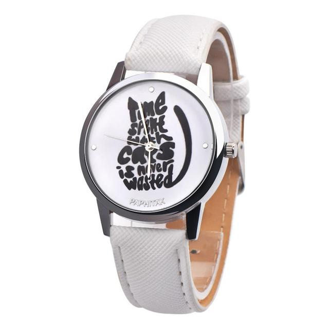 Women's Cute Black Cat Printed Watches