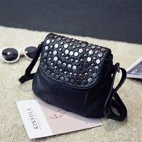 Mini Crossbody Bags Women S Flap Black Rivet Bag Handbag PU Sac A Main Femme Ladies