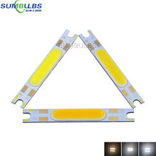 3W 5W COB strip LED light source chip on board 50x7mm COB bar for wall lamps table lantern car lights warm nature cool white 9V(China)