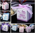 50 unids Laser Cut Carriage Cajas Del Caramelo de Regalo Favores de La Boda y Regalos de Baby Shower Party Decoration