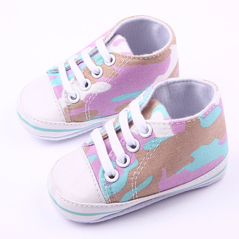 Infant Toddler Baby Boy Girl Camouflage Soft Sole Shoes Sneakers Newborn to 12M