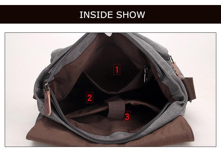 Micom Canvas Men Messenger Bags Vintage Shoulder Belt Bag Large Capacity Business Travel Bag Men\`s Canvas Crossbody Handbag New (30)