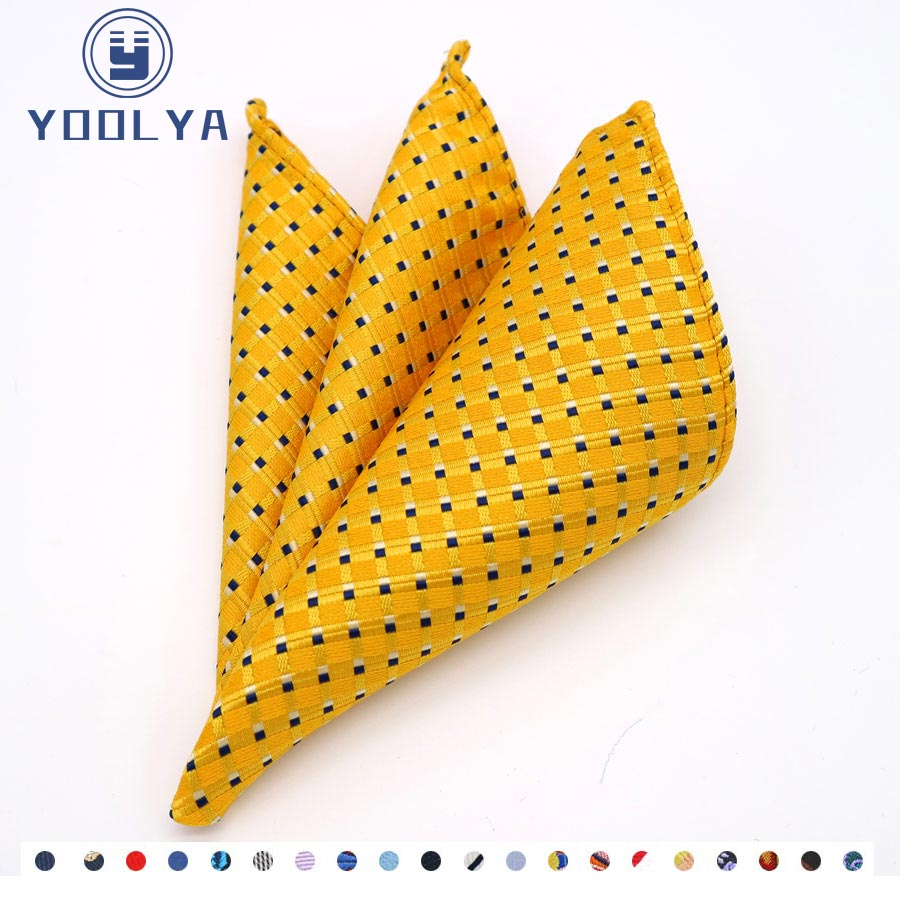 Classic Men's Silk Handkerchief Hanky Man Polka Dot Jacquard Pocket Square Chest Towel 25*25cm For Wedding Party Accessories