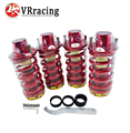 VR RACING-RD CARRERAS JDM ALUMINIO PRIMAVERA + CHOQUES COILOVER AJUSTABLE STRUT TOWER TOP HAT VR-TH12RD