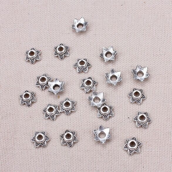 50pcs/lot 7.5mm The ancient silver bead caps receptacle jewelry Findings accessories 50pcs lot fr9220