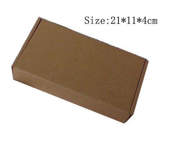 Free shipping Wholesale 30pcs lot 21 11 4cm Wallet Coin Purse Packaging box E grade Kraft