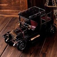 Handmade Black Made Classic Car Retro Nostalgic Music Box Home Decorations Classical Metal Clockwork Exquisite Music Box Gifts